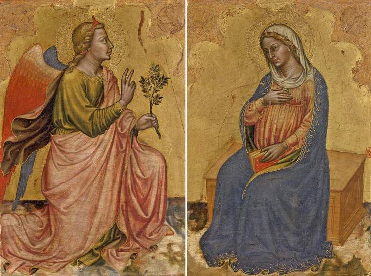 The Annunciation by Martino-di-Bartolomeo-di-Biago. Fitzwilliam Museum