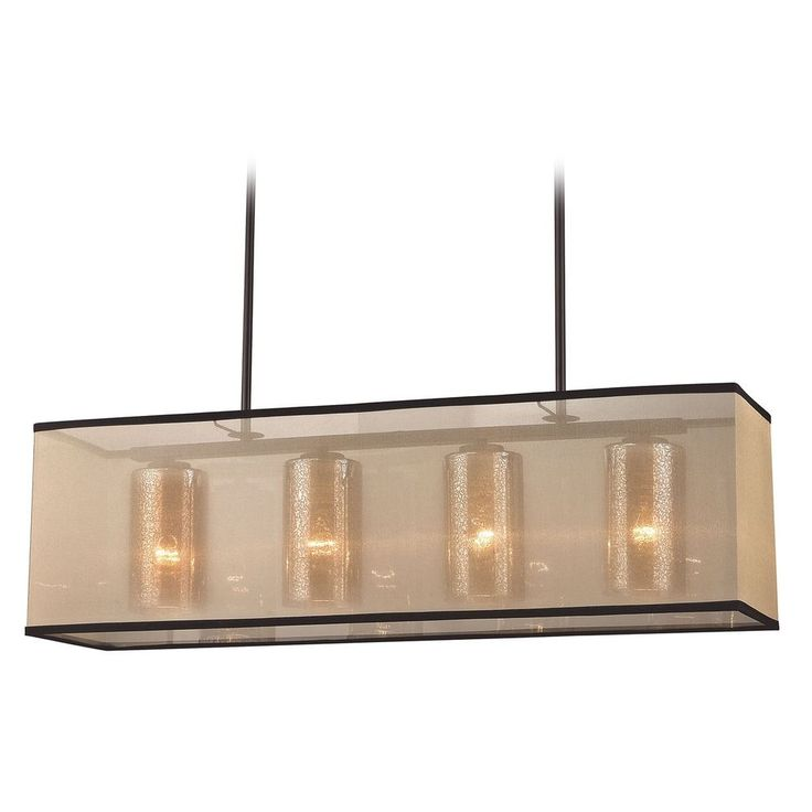 elk lighting elk lighting diffusion oil rubbed bronze island light with rectangle shade