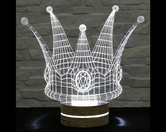 This crown shaped 3D LED lamp has an amazing effect. You can use it as home decor, table lamp, night light etc. It creates different ambience in your rooms..  Innovative LED lamp that tricks your...
