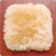 Long Wool Flat Cushion   OZwool Australian Sheepskin Products