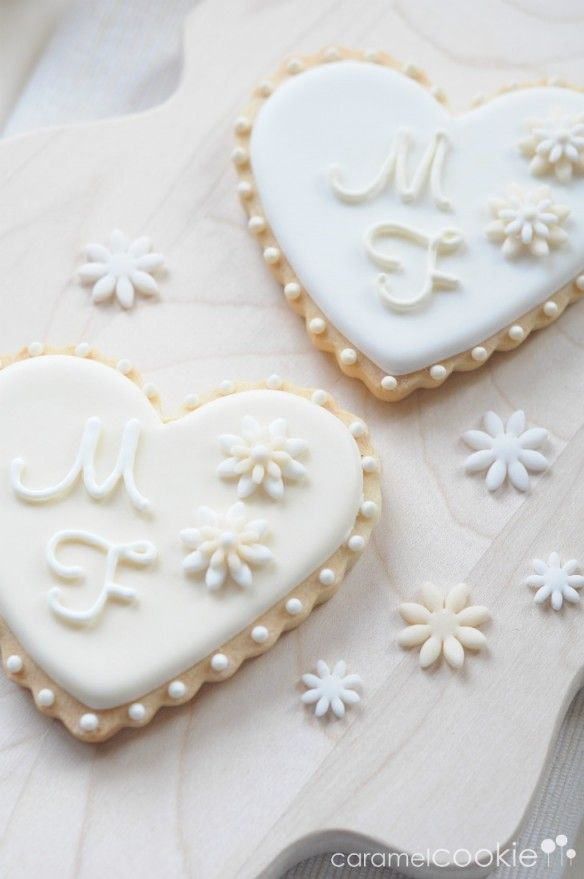 beautiful wedding cookies | Caramel Cookie