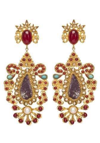 Cornelia Earrings Gold & Amethyst