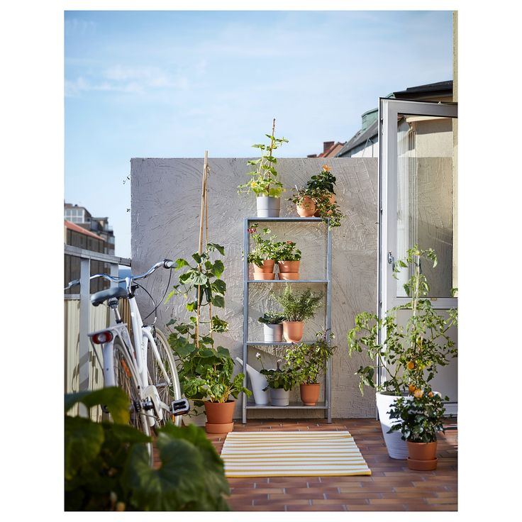 HYLLIS Shelf unit, indooroutdoor galvanized IKEA