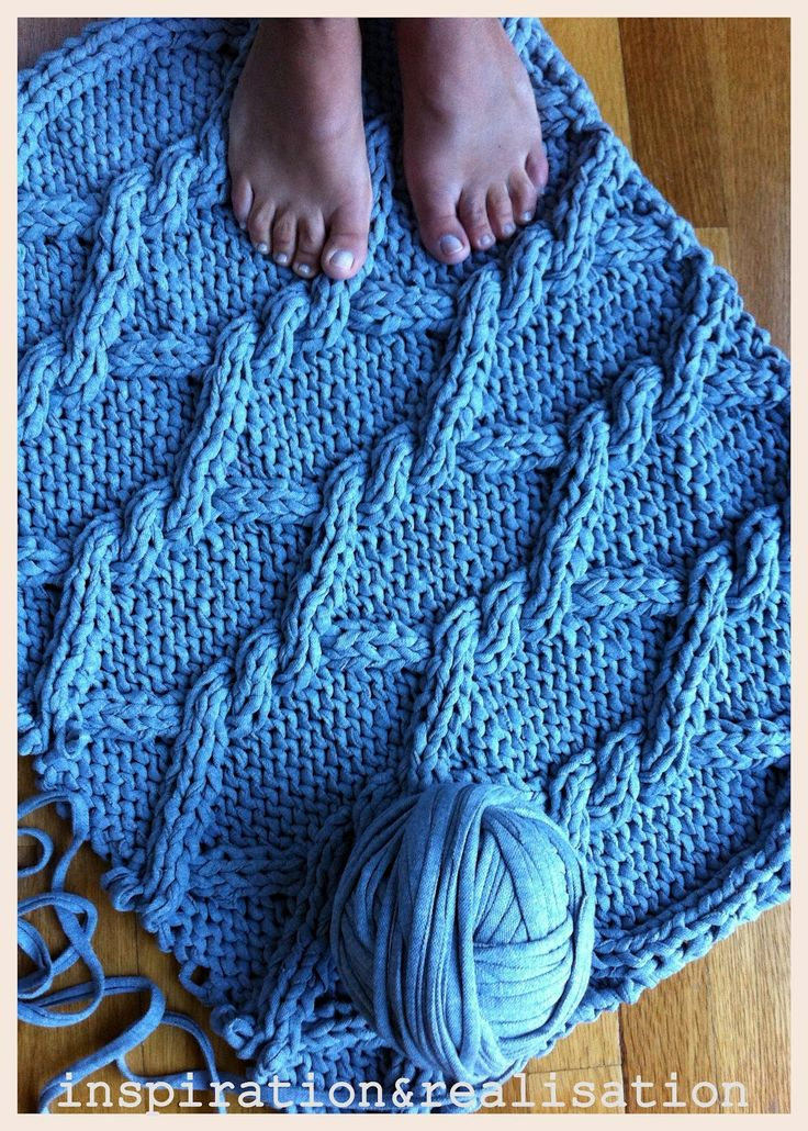 Knitting Unraveling Stitches : inspiration and realisation: DIY Home: DIY giant knitted rug - unraveling sto...