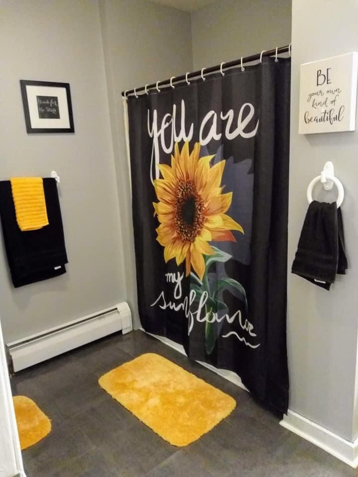 Sunflower Guest Room In 2020 Bright Bathroom Decor Decor Home Living Room Sunflower Home Decor #sunflower #themed #living #room