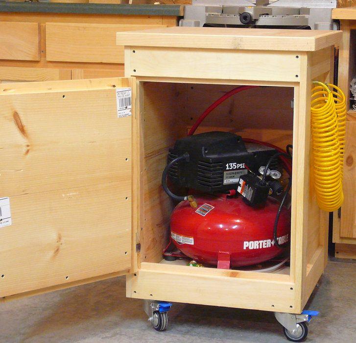 Air compressor tool cart by tim dahn for Woodworking cart