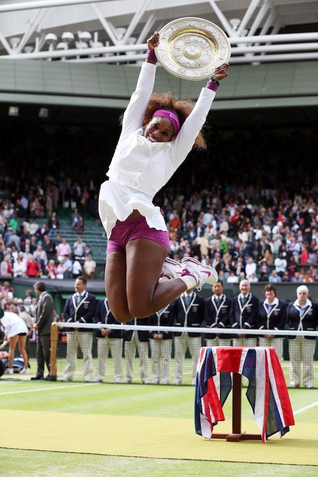 Serena celebrating her Wimbledon title. #Wimbledon