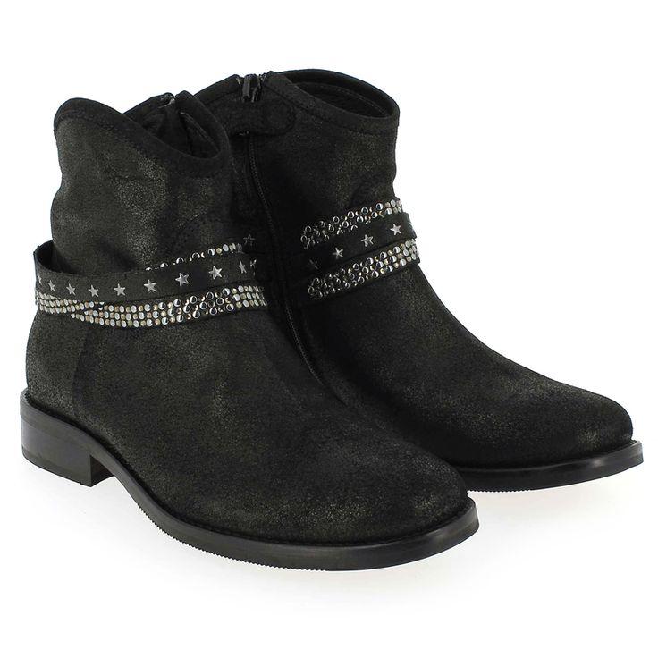 Chaussure Reqins CHARLIE Noir 4471801 pour Enfant fille | JEF Chaussures