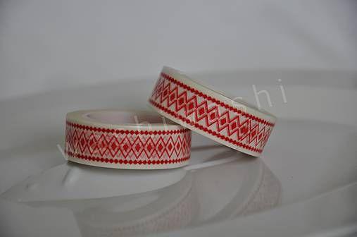 Washi paska cerveny folk by WashiWashi - SAShE.sk - Handmade Papier