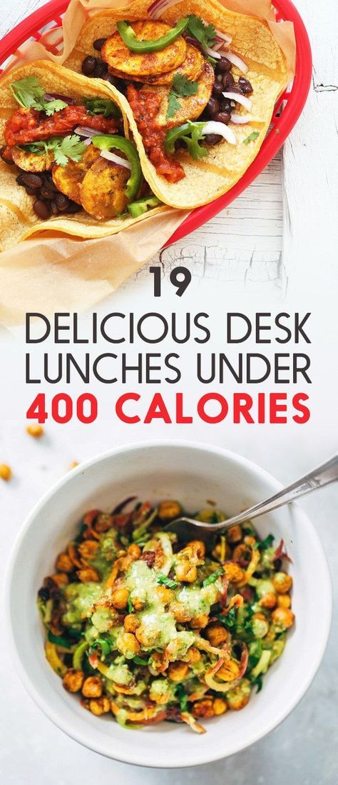 19 Easy-To-Pack Lunches Under 400 Calories - Great ideas for what to pack for lunch on work says that will put a smile on your face!