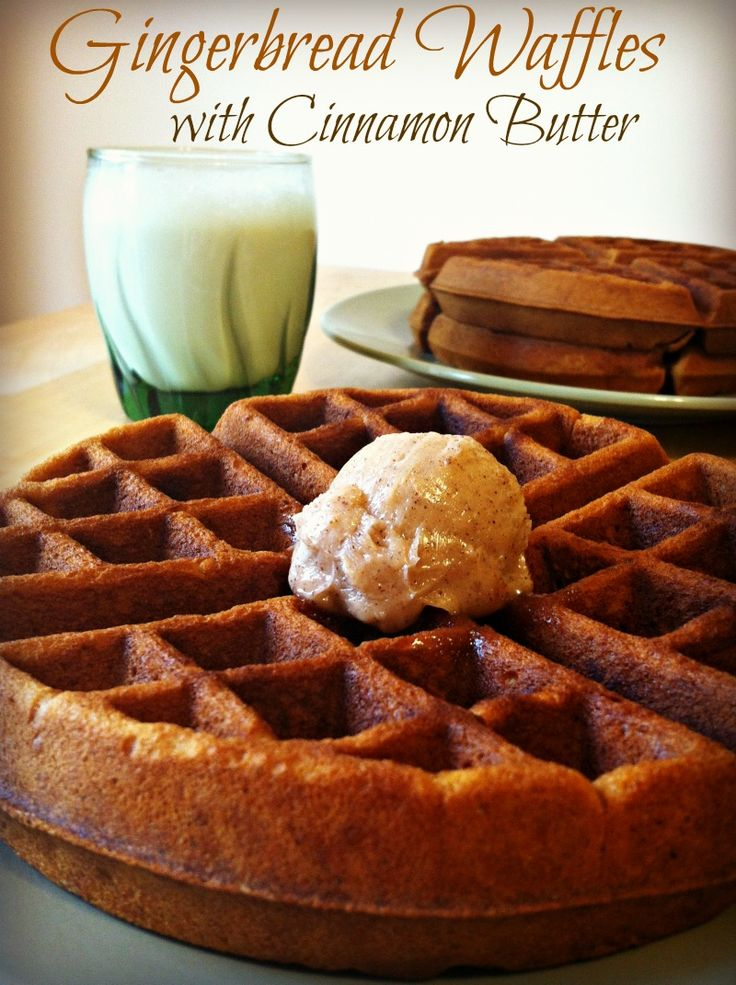 Gingerbread Waffles with Cinnamon Butter