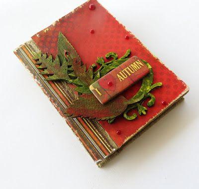 Tando Creative: I love Autumn mini book cover with Irit