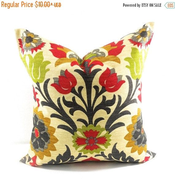 PILLOW SALE Outdoor Pillow cover. Floral. by TwistedBobbinDesigns