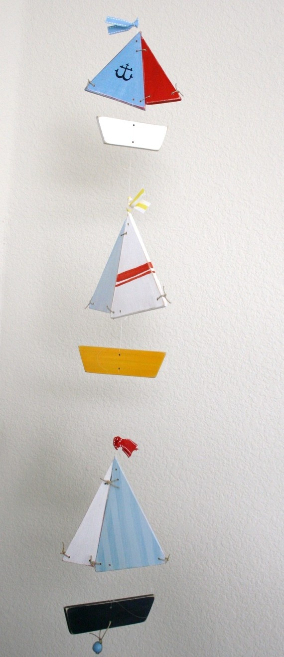 sail boat mobile... handmade. $75