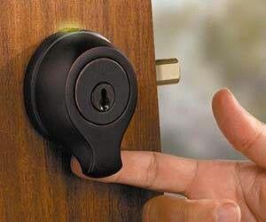 Finger print scanner door lock