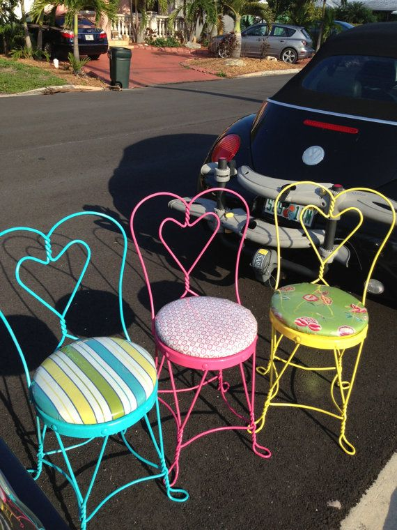 Vintage Ice Cream Parlor Chairs by serendipantiques on Etsy, $250.00