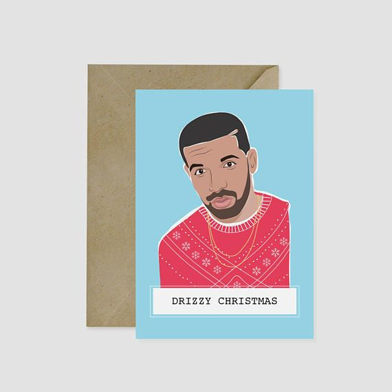 All we want for Christmas is Drake in a tacky holiday sweater!   Hot Laundry Paper Co. Christmas cards