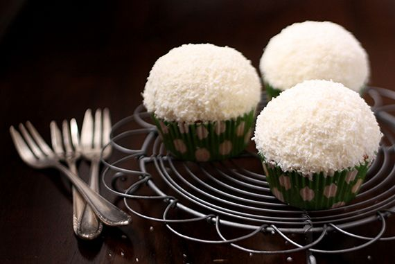 Vanilla sponge, Coconut frosting and Snowball on Pinterest
