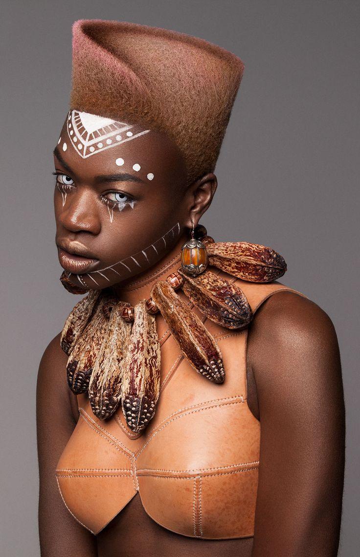 Premios British Hair 2016: Quedó finalista esta colección afro que es un precioso tributo moderno a la cultura africana