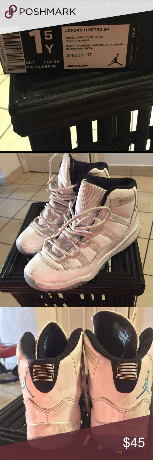 Legendary original authentic Jordan 11 retro Regular wear and tear,but these Jordan's were hard to get because they were the original color. Jordan Shoes Sneakers