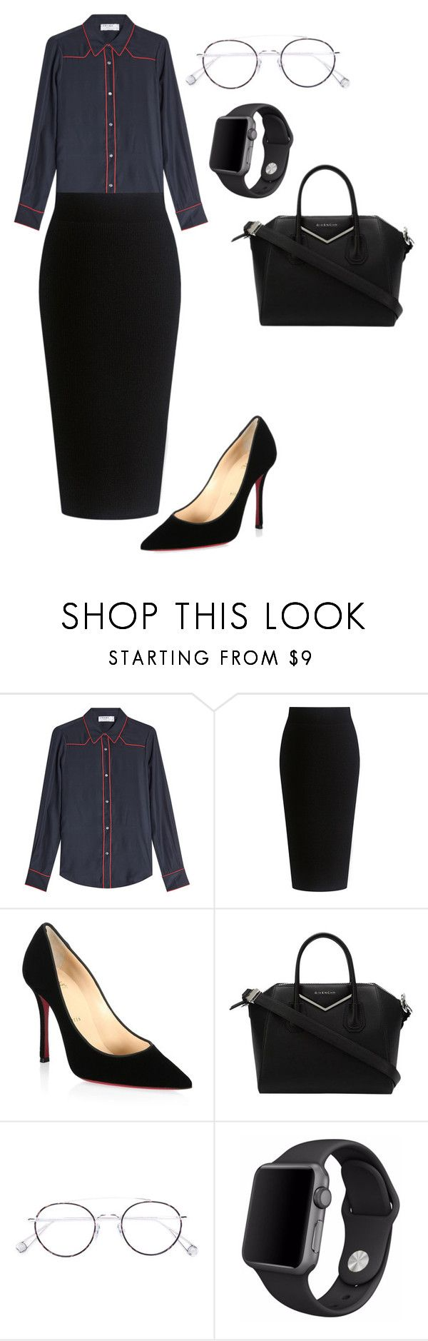 """""""Untitled #218"""" by sweetaoife on Polyvore featuring Frame, Theory, Christian Louboutin, Givenchy, Ahlem and Apple"""