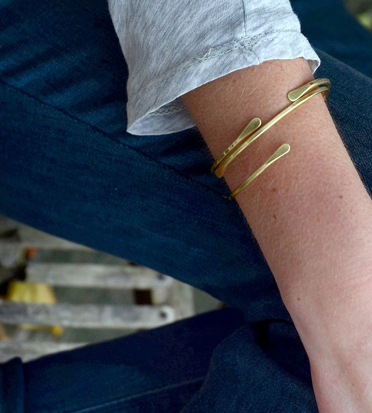 Brass Cuff Bracelet - Set of 2