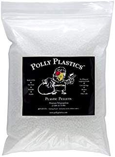 Polypropylene Plastic Poly Pellets - 2 lbs. NOT MOLDABLE PLASTIC. Polly Plastics in Heavy Duty Resealable Bag. Weighted for Stuffing & Filling Dolls & Crafts, Blankets and Corn Hole Size Bean Bags.