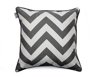 We Love Beds Zig Zag Gray Pillow Case -    Edit Listing  - Etsy