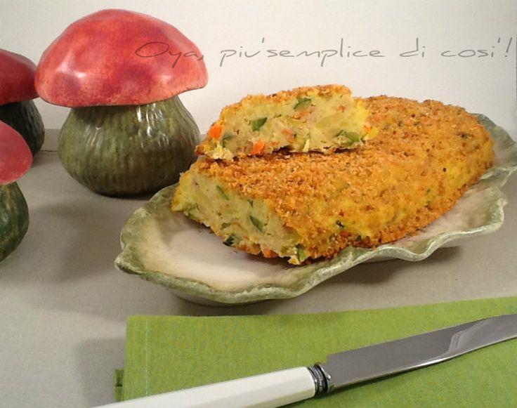 Polpettone di verdure, ricetta saporita. http://blog.giallozafferano.it/oya/polpettone-di-verdure-ricetta/