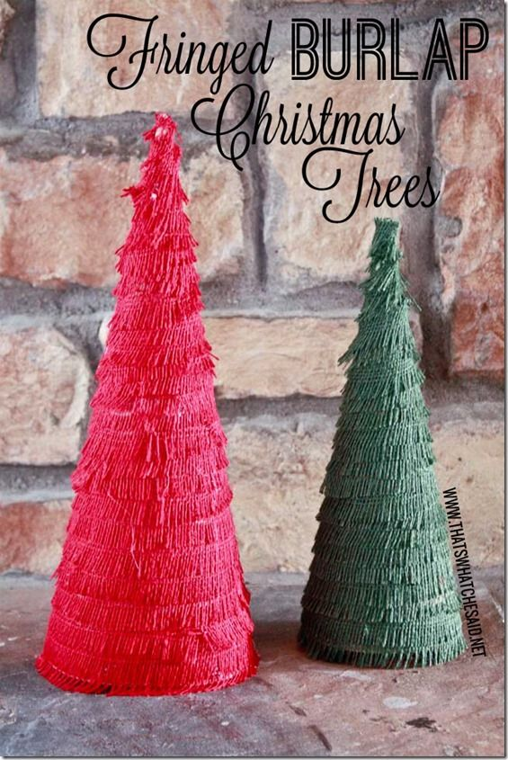 Burlap Christmas Craft Ideas Part - 38: 325 Best Crafts With Burlap Images On Pinterest | Hessian Fabric, Burlap  Projects And Christmas Ideas