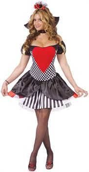 PartyBell.com - Queen of Hearts Sexy Adult Costume