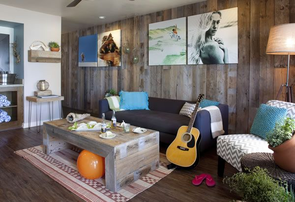 California surf style beach bungalow Inspiring beach bungalow style. http://bit.ly/1p3Ah3y