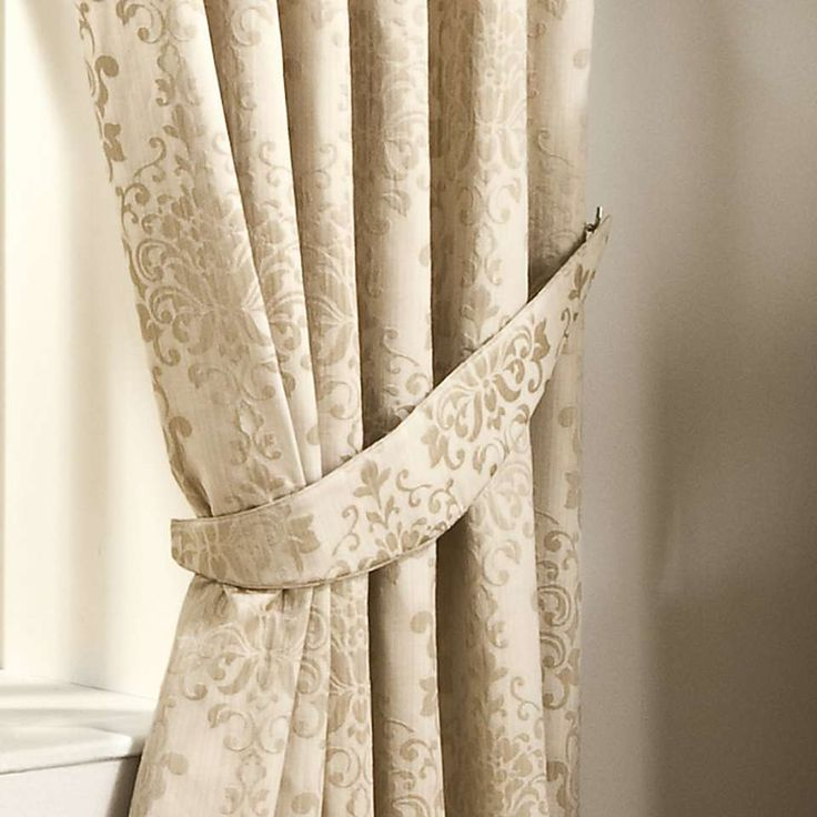 Murano Natural Lined Pencil Pleat Curtain | Dunelm