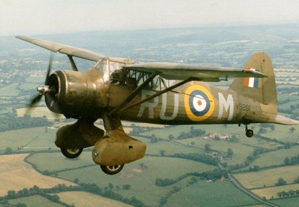 Westland Lysander aircraft profile. Aircraft Database of the Fleet Air Arm Archive 1939-1945
