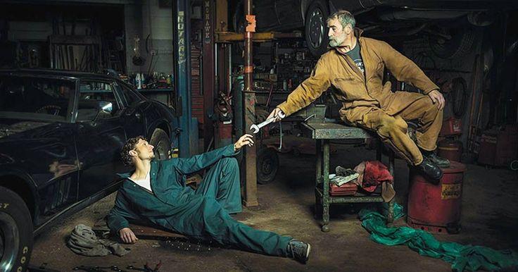 Auto mechanics pay homage tothe legendary artworks ofRenaissance…