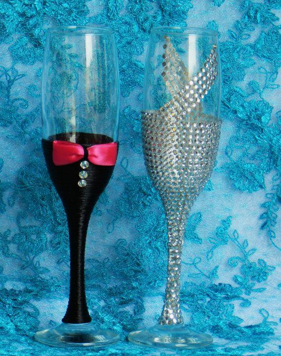 Diamantes de imitación boda gafas por AccessoriesbyNicolle en Etsy