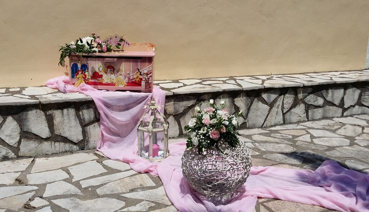βαπτιση - Παναγία των Βλαχερνών Baptism at Panagia ton Vlaxeron Lefkada Greece pink and purple theme
