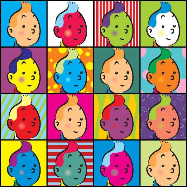 pop art Tintin