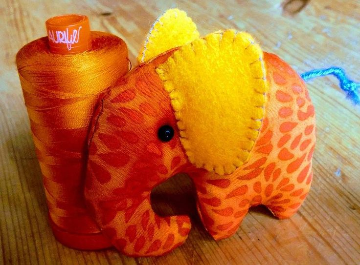 https://flic.kr/p/WEVL1A | Elephant softie | Pattern found at Wonderful DIY