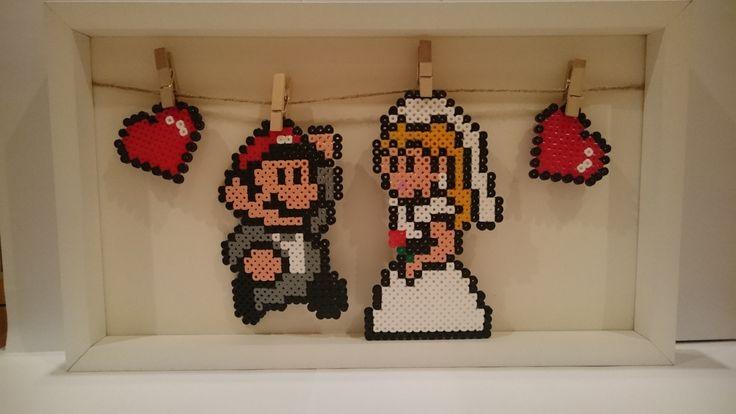 Super Mario Wedding decorations perler beads by PixelGamerGirl