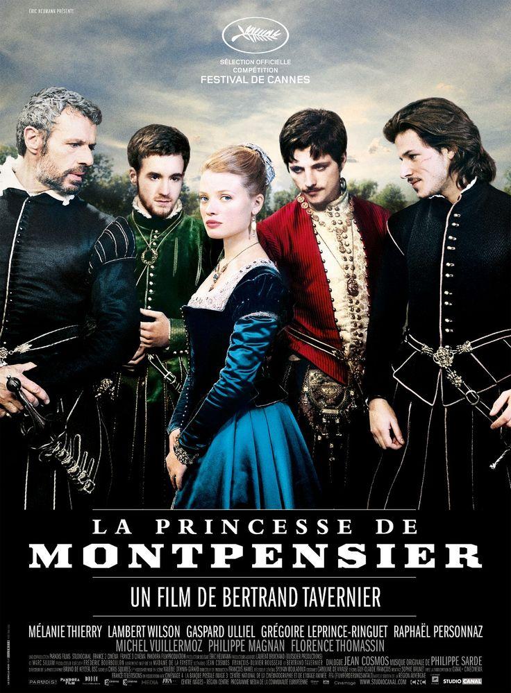 """La Princesse de Montpensier - Bertrand Tavernier 2010 -- """"Le film raconte l'histoire d'amour entre le duc de Guise  Mlle de Mézières, contrainte d'épouser le prince de Montpensier. Le film se déroule à la fin de la Renaissance, époque où Catherine de Médicis exerce la régence au nom de son fils Charles IX et est confrontée aux guerres de religion et sera à l'origine de la Saint-Barthélemy."""""""