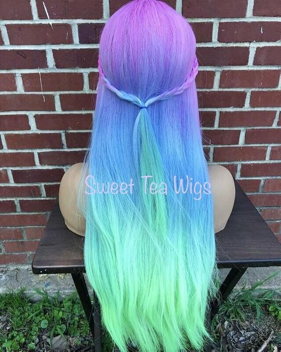 1315662331 READY TO SHIP Mermaid Rainbow Pastel Ombre Wig in 2019 | Products ...