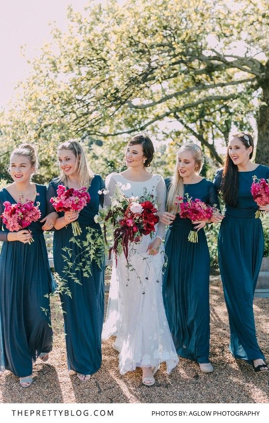 Berry Tone Beauty & A Unique Bridal Gown | Real weddings | The Pretty Blog