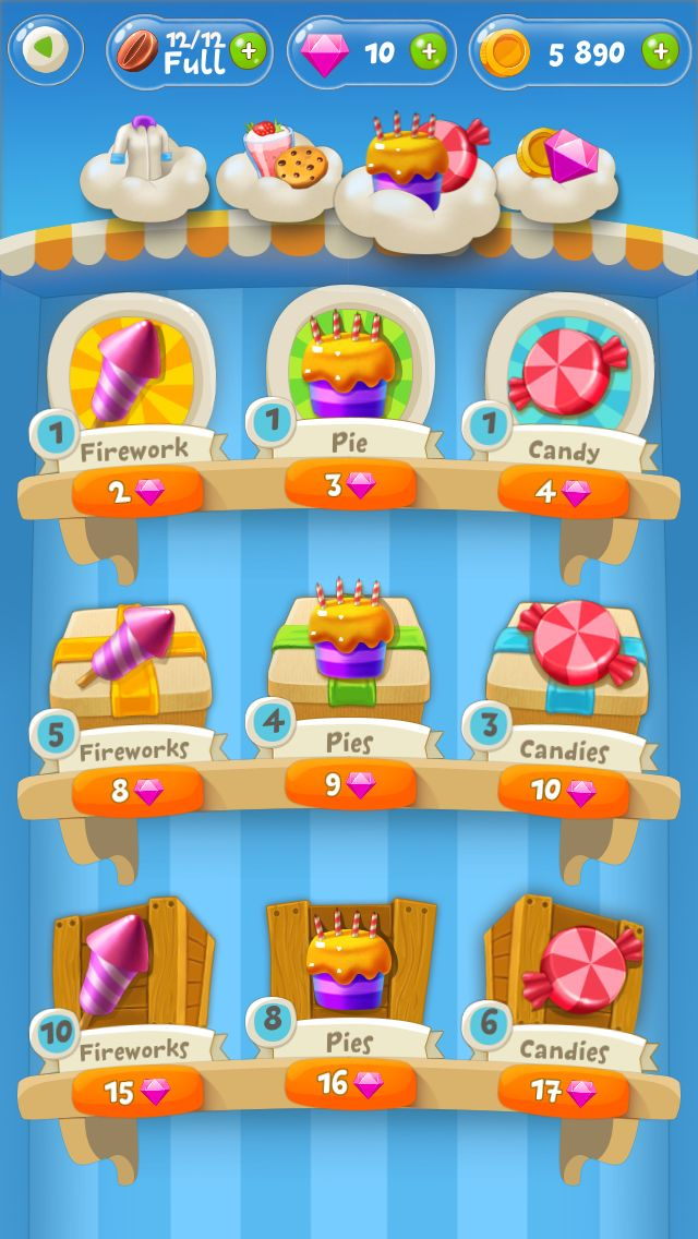 Mobile Game   shop   store   UX