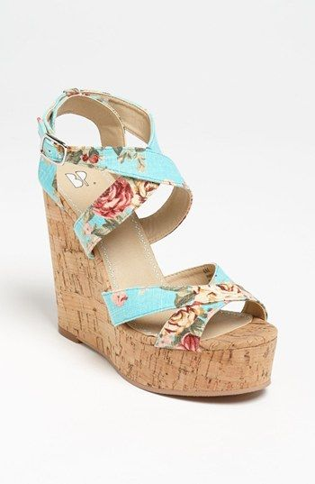 oh god i love these - BP. 'Erika' Wedge Sandal available at Nordstrom