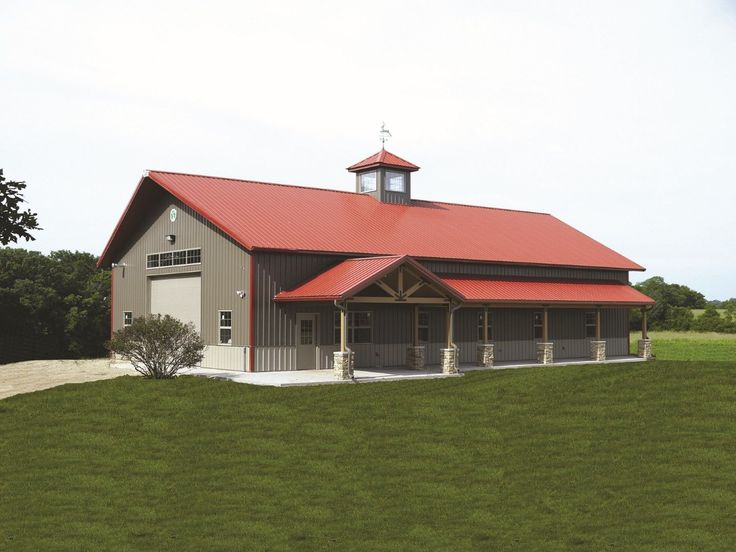 Best 25 red roof ideas on pinterest garage exterior for Red barn plans