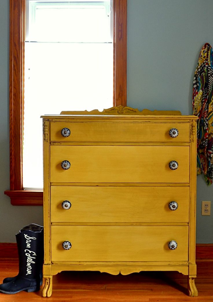 Debut: A Mustard Chest Of Drawers   Estuary Designs Part 79