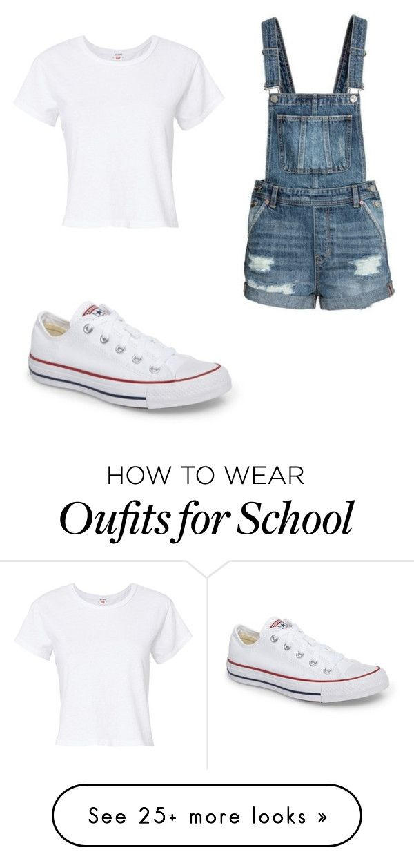 """High School Days!!! #Simple"" by kingterron on Polyvore featuring Converse and RE/DONE"