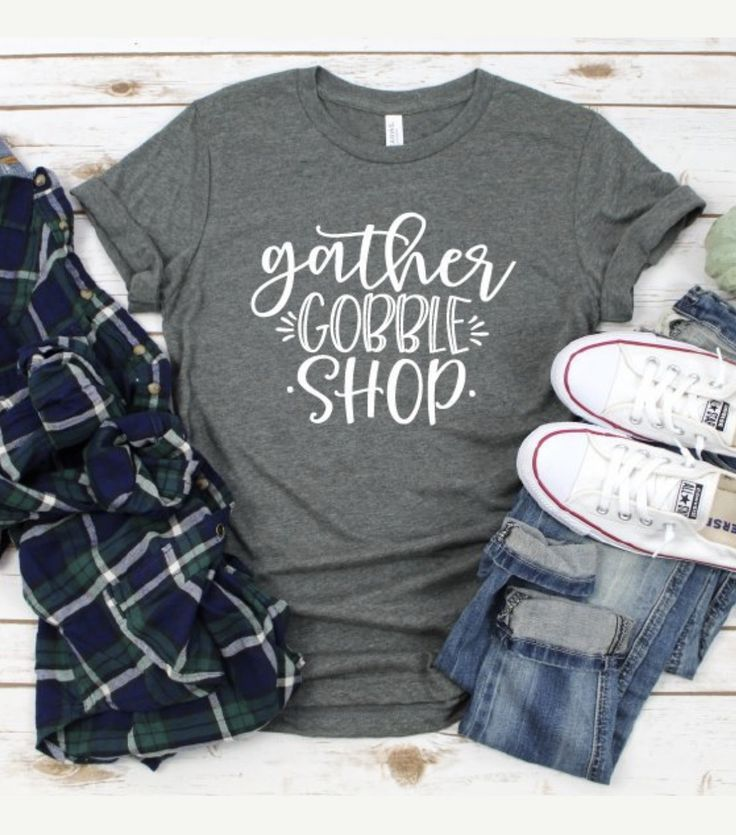 Gather Gobble Shop Thanksgiving Black Friday Women's T-Shirt