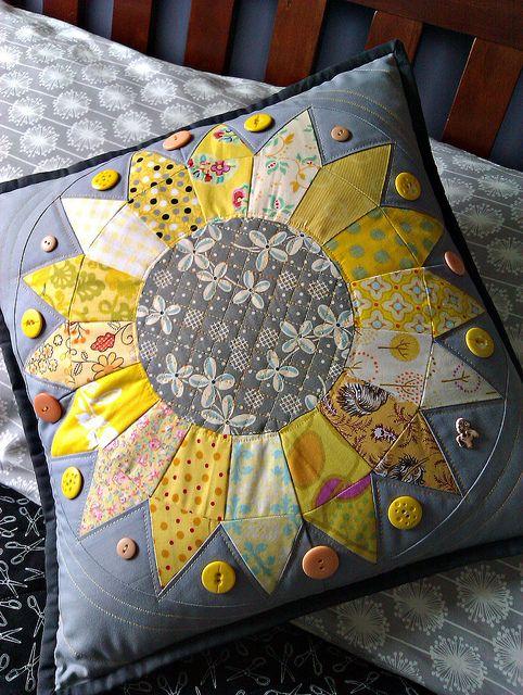 Sunflower Quilt Pillow